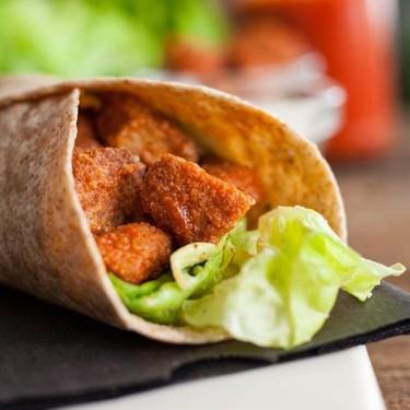 Vegan Buffalo Chicken Caesar Wrap Recipe | SideChef