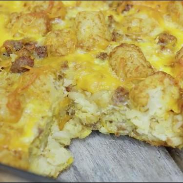 Tater Tot Sausage Breakfast Casserole Recipe   SideChef