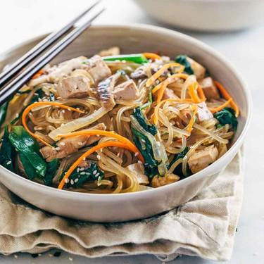 Japchae Korean Glass Noodles with Tofu Recipe   SideChef