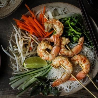 Vietnamese Grilled Shrimp Vermicelli Noodle Bowl Recipe | SideChef
