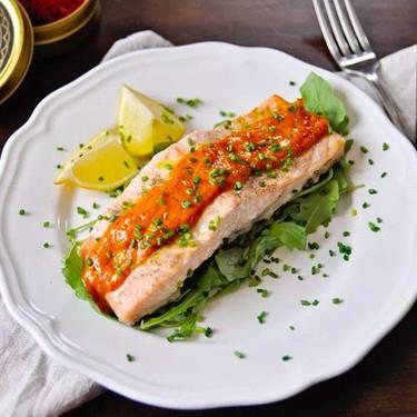 Easy Oven-Roasted Salmon with Saffron Dijon Sauce Recipe | SideChef