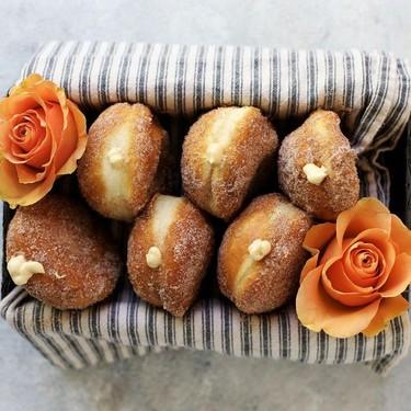 Salted Caramel Cream Cheese Filled Cinnamon and Sugar Donut Recipe | SideChef