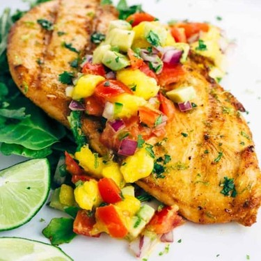 Grilled Tequila Lime Chicken with Mango Salsa Recipe | SideChef