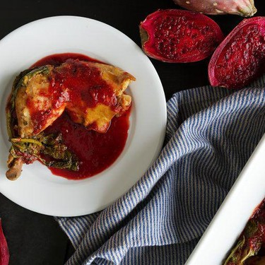 Slow-Cooker Cactus Pear Chicken with Broccoli Rabe Recipe | SideChef