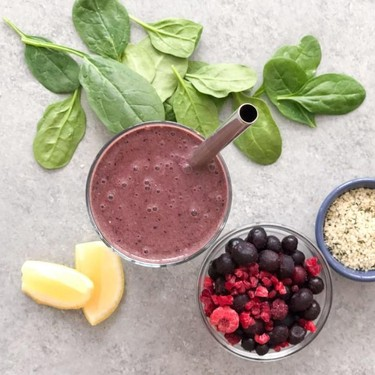 Less Fruit, Not Gross Berry Green Smoothie Recipe   SideChef