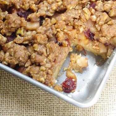 Apple Cranberry Walnut Bars Recipe   SideChef