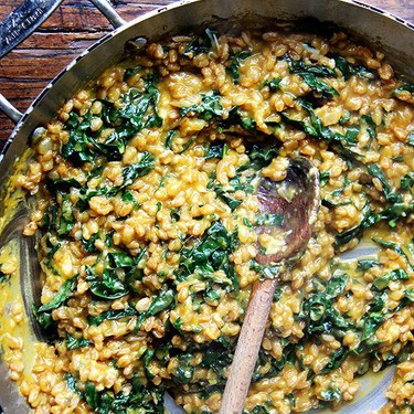 Farro Risotto with Squash and Kale Recipe | SideChef