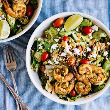 Shrimp and Avocado Taco Salad Recipe | SideChef