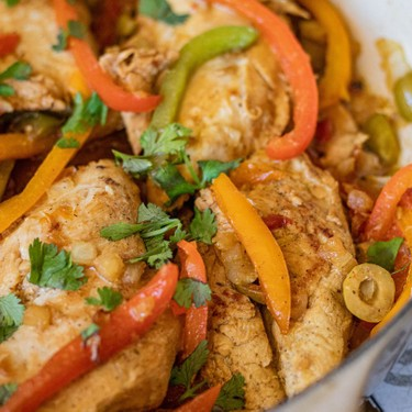 Dominican Chicken with Peppers (Pollo Guisado) Recipe   SideChef