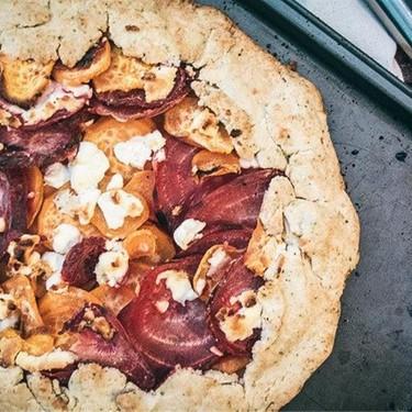 Sweet Potato Beet and Goat Cheese Galette Recipe   SideChef