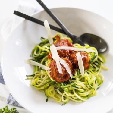 Zucchini Noodles with Mini Turkey Meatballs Recipe   SideChef