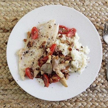 North Carolina Trout with Sauteed Oyster Mushrooms Recipe | SideChef