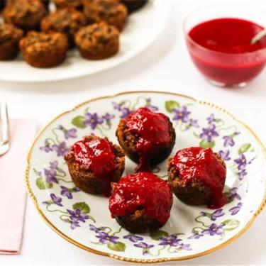 Cranapple Banana Muffins with Raspberry Topping Recipe | SideChef