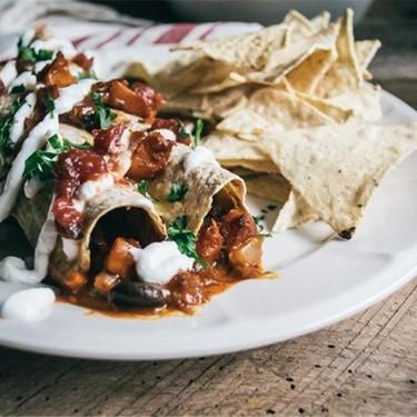 Butternut Squash and Black Bean Enchiladas Recipe | SideChef