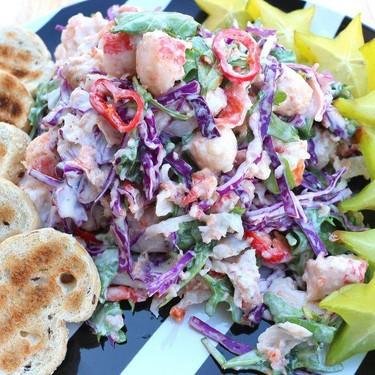 Arugula & Crab Salad In Yogurt Dressing Recipe   SideChef