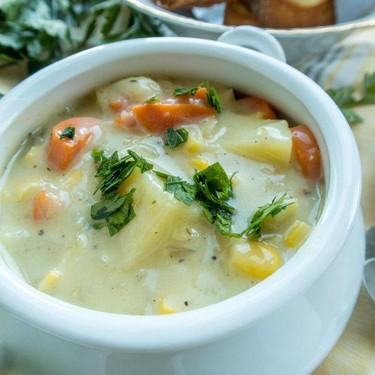 Vegan Corn Chowder Recipe   SideChef
