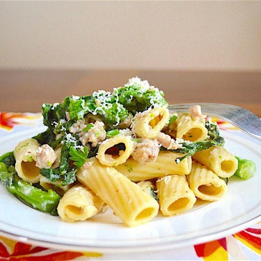 Spicy Sausage and Broccoli Rabe Rigatoni Recipe | SideChef