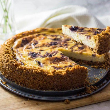 Cheesecake with Lemon and Blueberry Recipe | SideChef
