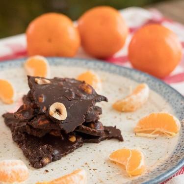 Orange Hazelnut Dark Chocolate Bark Recipe | SideChef