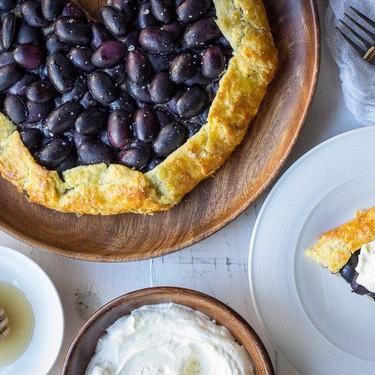 Halva and Grape Galette Recipe   SideChef