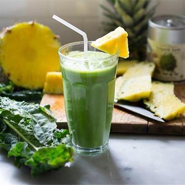 Matcha Green Tea and Pineapple Smoothie Recipe   SideChef