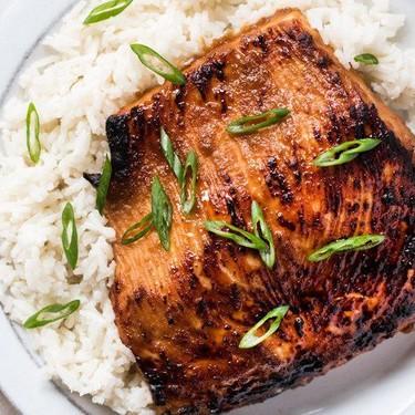Miso Glazed Salmon with Coconut Rice Recipe | SideChef