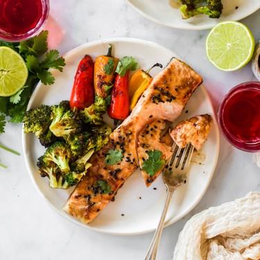 Baked Asian Salmon with Veggies Recipe | SideChef