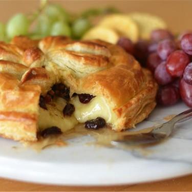 Baked Brie en Croûte with Honey, Dried Cherries, Rosemary & Pecans Recipe   SideChef