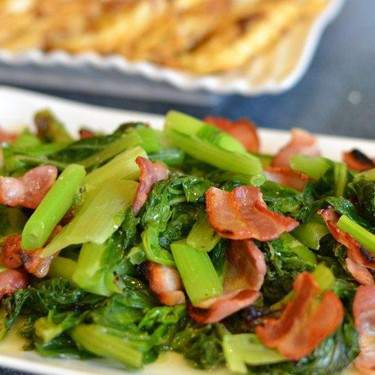 Bacon with Chinese Vegetables Recipe   SideChef