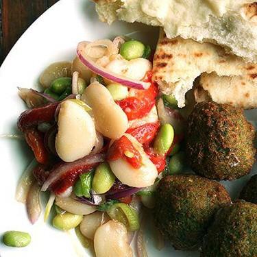 Homemade Falafel with Lima Bean Salad Recipe   SideChef