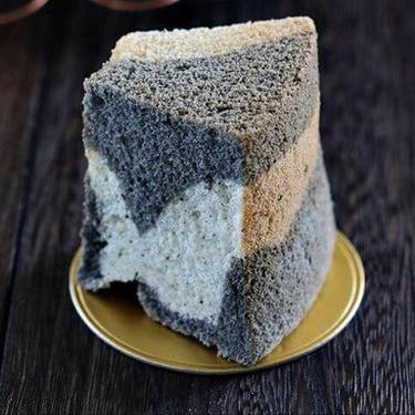 Black Sesame Marble Chiffon Cake Recipe | SideChef