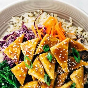 Teriyaki Tofu Bowl with Cauliflower Rice Recipe   SideChef