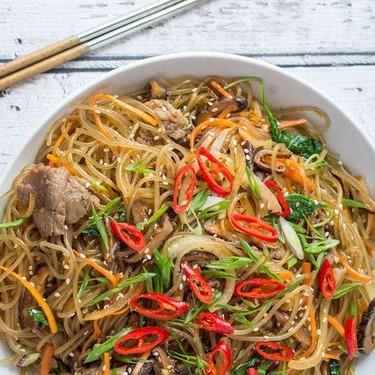 Japchae (Korean Stir-Fried Glass Noodles) Recipe   SideChef