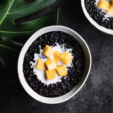 Black Rice with Mango and Coconut Cream Recipe | SideChef