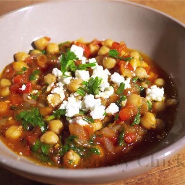 Chickpeas with Sweet Roasted Peppers Recipe   SideChef