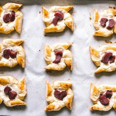 Strawberry Rhubarb Ricotta Cheese Danish Pinwheels Recipe | SideChef