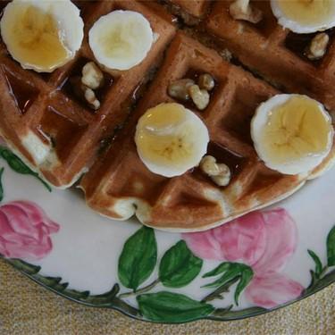 Banana and Walnut Waffles Recipe | SideChef