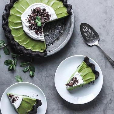 Matcha Mint Grasshopper Pie Recipe | SideChef