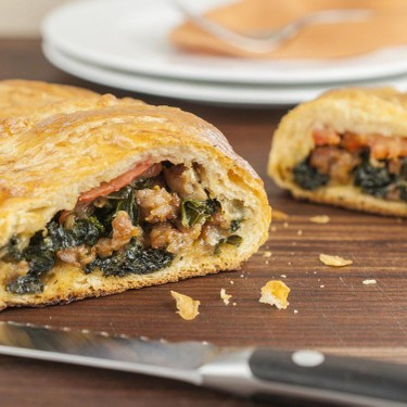 Kale and Sausage Pastry Roll Recipe   SideChef