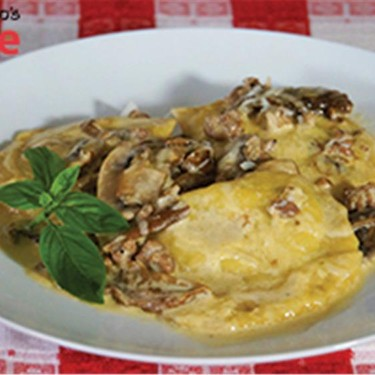 Ravioli with Cream Porcini Mushrooms and Sausage Recipe   SideChef