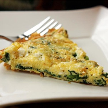 Spinach, Scallion, & Feta Frittata Recipe   SideChef