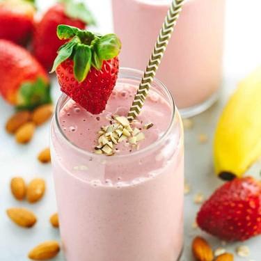 Strawberry Banana Smoothie with Almond Milk Recipe   SideChef