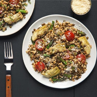 Warm Farro and Lentil Salad Recipe   SideChef