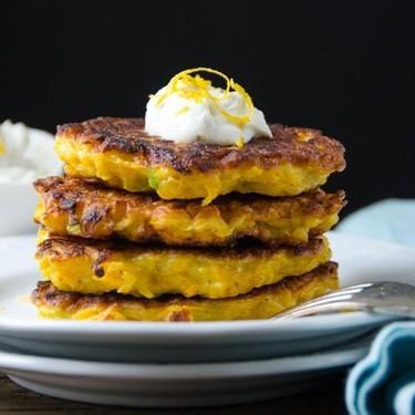 Butternut Fritters with Lemon Chèvre Recipe | SideChef