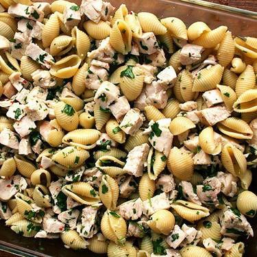 Pasta with Chicken, Lemon and White Wine Recipe | SideChef