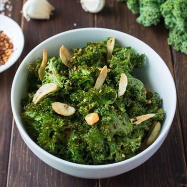 Spicy Garlic Kale Chips Recipe   SideChef