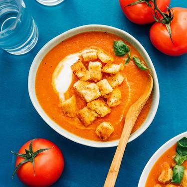 Fresh Tomato Soup with Basil Recipe   SideChef