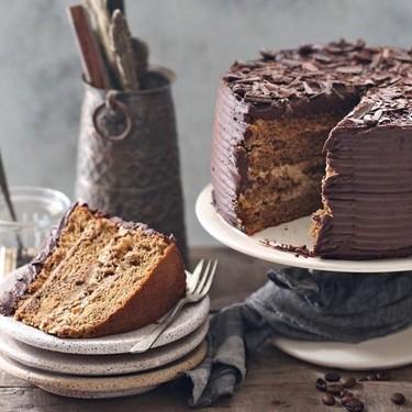 Coffee Mascarpone Layered Cake with Dark Chocolate Ganache Recipe   SideChef