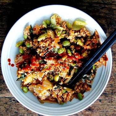 Easy Vegan Kimchi Fried Rice Recipe | SideChef