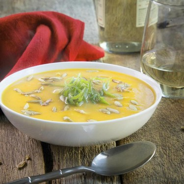 Butternut Squash Soup with Pumpkin Seeds Recipe   SideChef